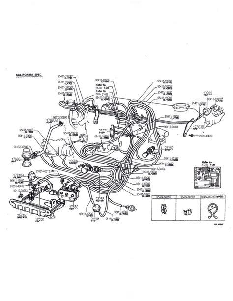 1989 Toyotum 22r Engine Diagram 6 best images of 1988 toyota 22r vacuum diagram 1989