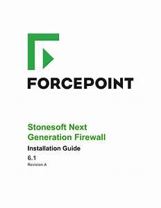Stonesoft Next Generation Firewall Installation Guide