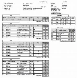 Printable high school transcript templates pictures to pin on pinterest pinsdaddy for High school transcript template free