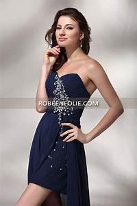 robe de soiree pour mariage de longueur asymetrique en With robe mariage bleu