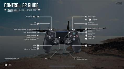 ps4 controller guide playerunknown s battlegrounds