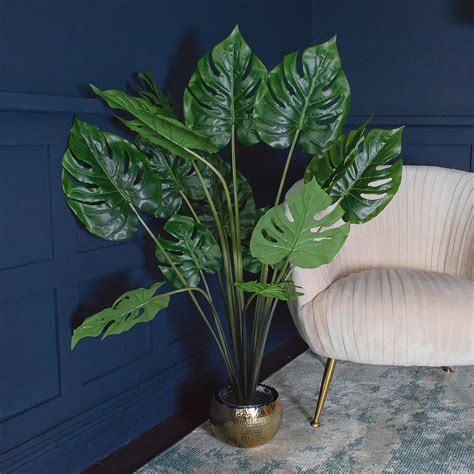 faux monstera potted plant hcm swiss cheese plant