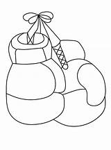 Boxing Gloves Coloring Printable Categories Coloringonly sketch template