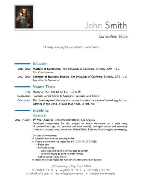 resume template moderncv templates 187 curricula vitae r 233 sum 233 s