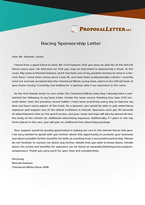 pin  proposal letter samples usa  racing sponsorship