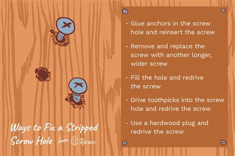 fix  stripped screw hole