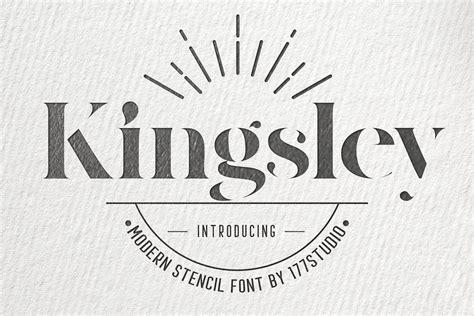 Kingsley Modern Serif Stencil Font - Download Fonts