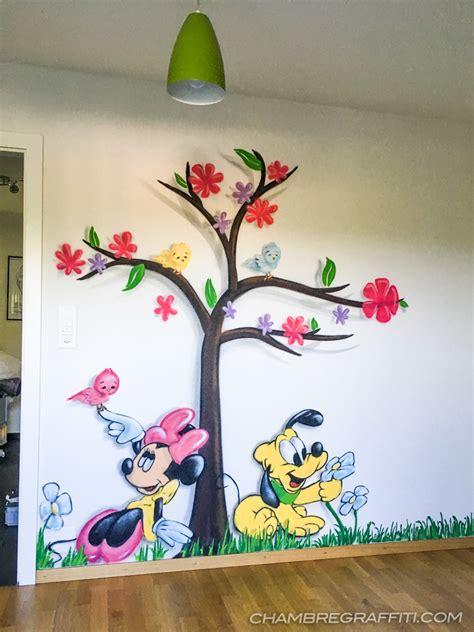 dessin mural chambre fille dessin chambre bb fille d coration chambre bebe dessin