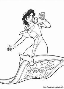 Walt Disney Coloring Pages - Aladdin & Abu - Walt Disney ...
