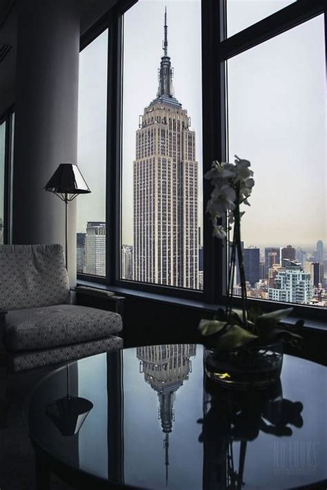 york manhattan building windows empire state apartment night living luxury room penthouse nyc window views penthouses dream point ny pent