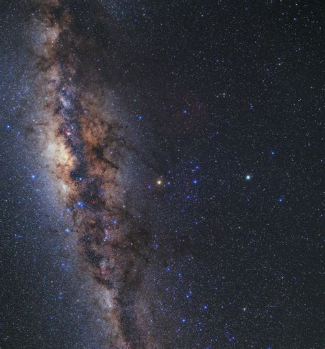 Milky Way Galaxy Seen Over Vlts Four 82 Metre Unit