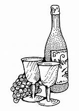 Wine Bottle Glass Coloring Clip Cups Vino Pages Printable Da Pinclipart Disegni Colorare Di Edupics sketch template
