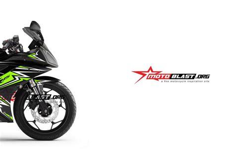 modifikasi striping yamaha r15 black green thunder motoblast