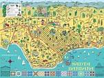 illustrated Santa Barbara metropolitan area map