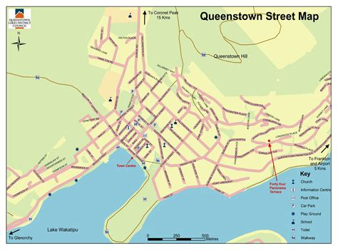 queenstown  zealand map street map  queenstown
