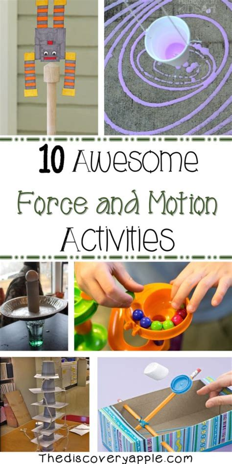 awesome force  motion activities  extra resources