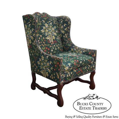 henredon four centuries country style wing chair ebay