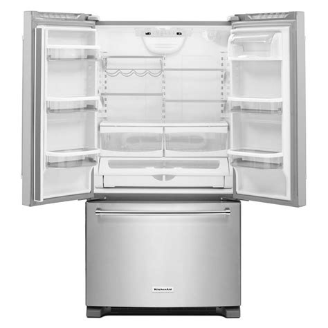 Cabinet Depth Refrigerators French Door Cabinet White Finish