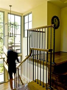 Rod Iron Railing Staircase Traditional With Floor To