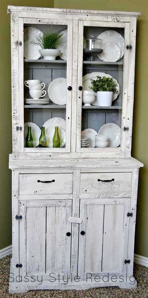 painted kitchen hutches sassy style diy barnwood hutch makeover with sloan