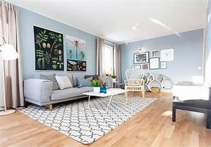 Light, Blue, Interior, Design, In, Scandinavian, Style