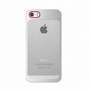 7mm DieSlimest DUO:MESH RED(P) Hex Silver iPhone 5/5S ...