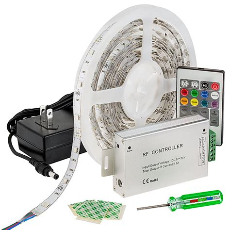 rgb led strip light kit 12v led tape light 122 lumens
