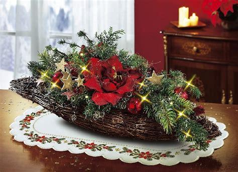 Gestecke Für Weihnachten Selber Machen by Beleuchtetes Tischgesteck Weihnachten Rot