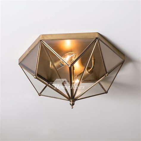 living room ceiling lights glass  light brass fixture