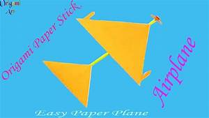 How To Make A Paper Stick Airplane Easy Instructions For