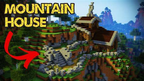 minecraft mountain house tutorial minecraft house