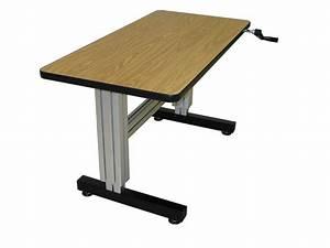 Woodwork Adjustable Height Computer Desk PDF Plans