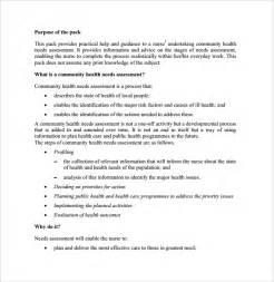 Community Health Needs Assessment Template