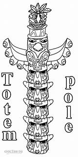 Coloring Pages Totem Pole Printable Sheet Alaska Template Poles Templates Apache Native American Cool2bkids Painting Totems Children sketch template