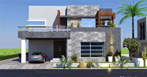 front elevationcom  kanal contemporary house plan
