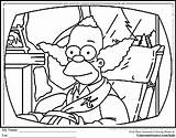 Coloring Krusty Clown Simpsons Animal Drawing Sheets Cartoon Tree Printable Drawings Clowns Draw Getdrawings Getcolorings Boys Ginormasource sketch template
