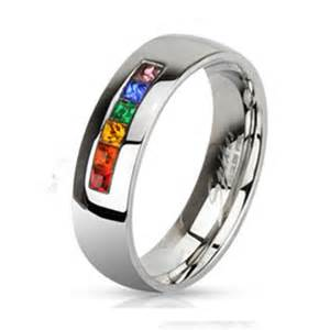 lgbt wedding rings 6mm stainless steel pride rainbow wedding band promise ring r533 ebay