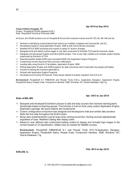 minnesota peoplesoft developer and resume
