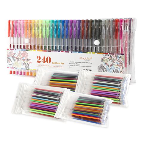 colored gel pens sets 240 gel pens coloring set pen colors glitter colored
