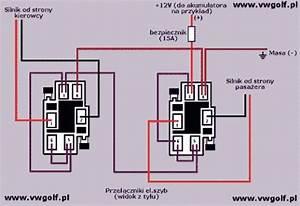 Schemat Pod U0142 U0105czenia Elektrycznych Szyb W Golfie Mk2