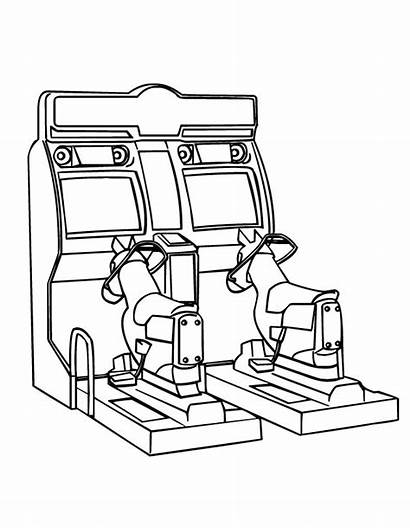 Coloring Pages Games Arcade Machine Claw Toy