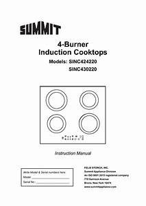Summit Appliance Sinc430220 30 In  Radiant Induction