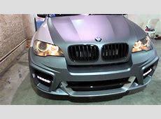 BMW X5 GPower Typhoon Wrapped in Matte Grey Silver by DBX
