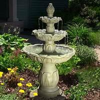 outside water fountains Tulip 3 Tier Garden Water Fountain - EonShoppee