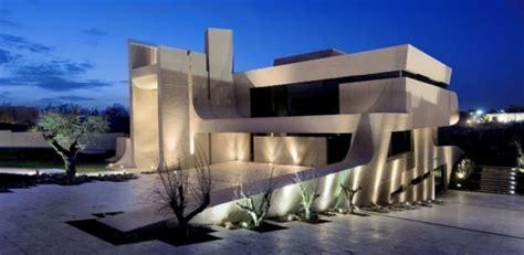 belle villa en beton  larchitecture atypique  madrid