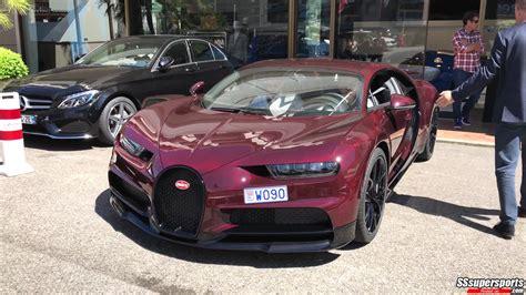 carbon red bugatti chiron spotted monaco front