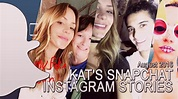 Katharine McPhee's snapchat/instagram stories | August ...