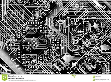 Electronic Monochrome Black And White Background Stock