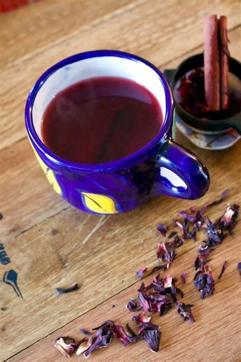 hibiscus cinnamon tea te de jamaica  canela
