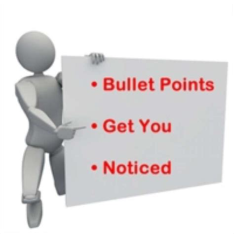 How Many Bullet Points On Resume by 5 Ways Your Resume Bullet Points Get You Hired Houston